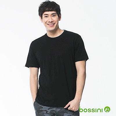 bossini男裝-素色純棉圓領T恤01黑