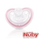 Nuby 矽膠伸縮型安撫奶嘴(附蓋)(6-12m)粉紅
