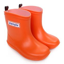 Stample日本製兒童雨鞋(陽光橘)