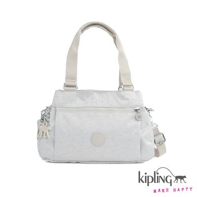 Kipling-手提包-蠶絲白素面
