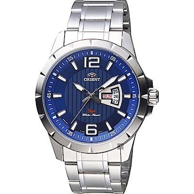 ORIENT東方 SP 系列 冒險家運動石英錶-藍x銀/44mm