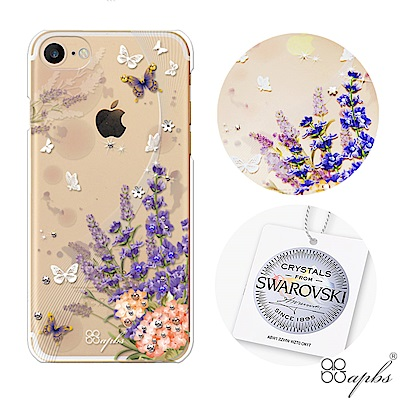 apbs iPhone8/7 4.7吋施華洛世奇彩鑽手機殼-普羅旺斯