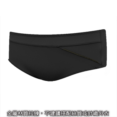 瑪登瑪朵-魔酷風革-低腰平口綿褲-黑