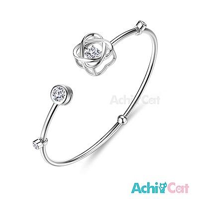 AchiCat 925純銀 跳舞的手環 幸福花漾 跳舞石