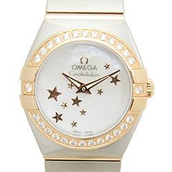OMEGA 歐米茄 星座系列玫瑰金星星面盤珍珠貝母腕錶-24mm