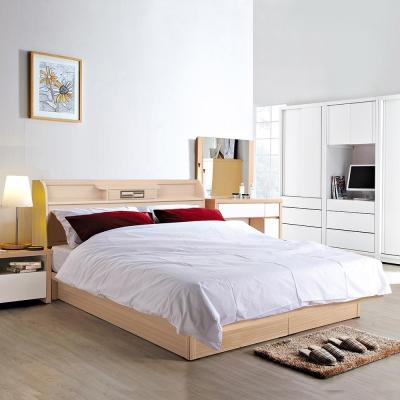 群居空間 鹿比5尺掀床房間組(床頭箱+掀床+床墊)-白橡色