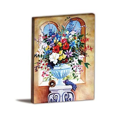 橙品油畫布-單聯式直幅 掛畫無框畫 城堡的裝飾 60x80cm