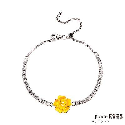 J'code真愛密碼 賞花黃金/純銀手鍊