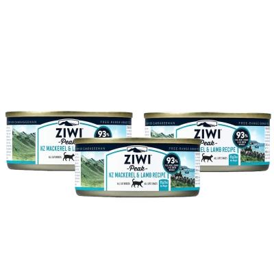 ZiwiPeak巔峰 93%鮮肉貓罐*鯖魚羊肉 85G*(一箱24罐)