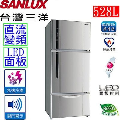 SANLUX 台灣三洋 528公升直流變頻三門冰箱 SR-C528CV1