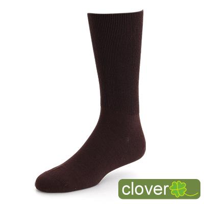 Clover 專利健康萊卡寬口除臭紳士襪(咖)