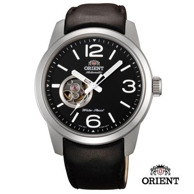ORIENT 東方錶SEMI-SKELETON 系列 小鏤空機械錶-黑色/42.5mm