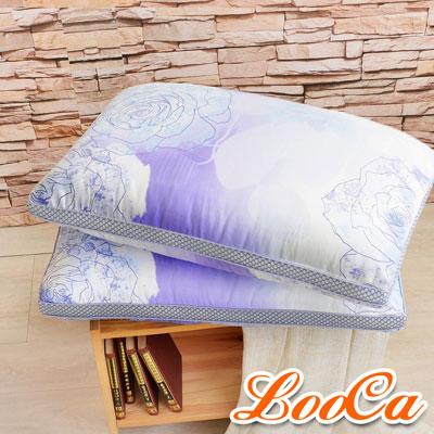LooCa 薔薇天絲蠶絲60顆獨立筒枕 2入