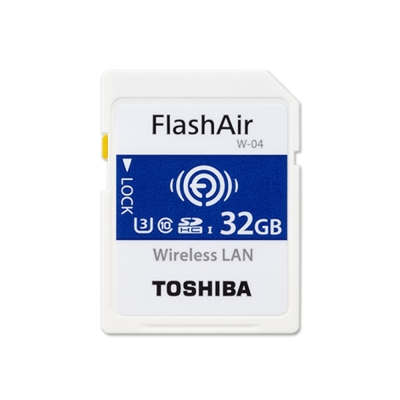 TOSHIBA 32G FlashAir SDHC U3 Wifi無線傳輸記憶卡 W-04