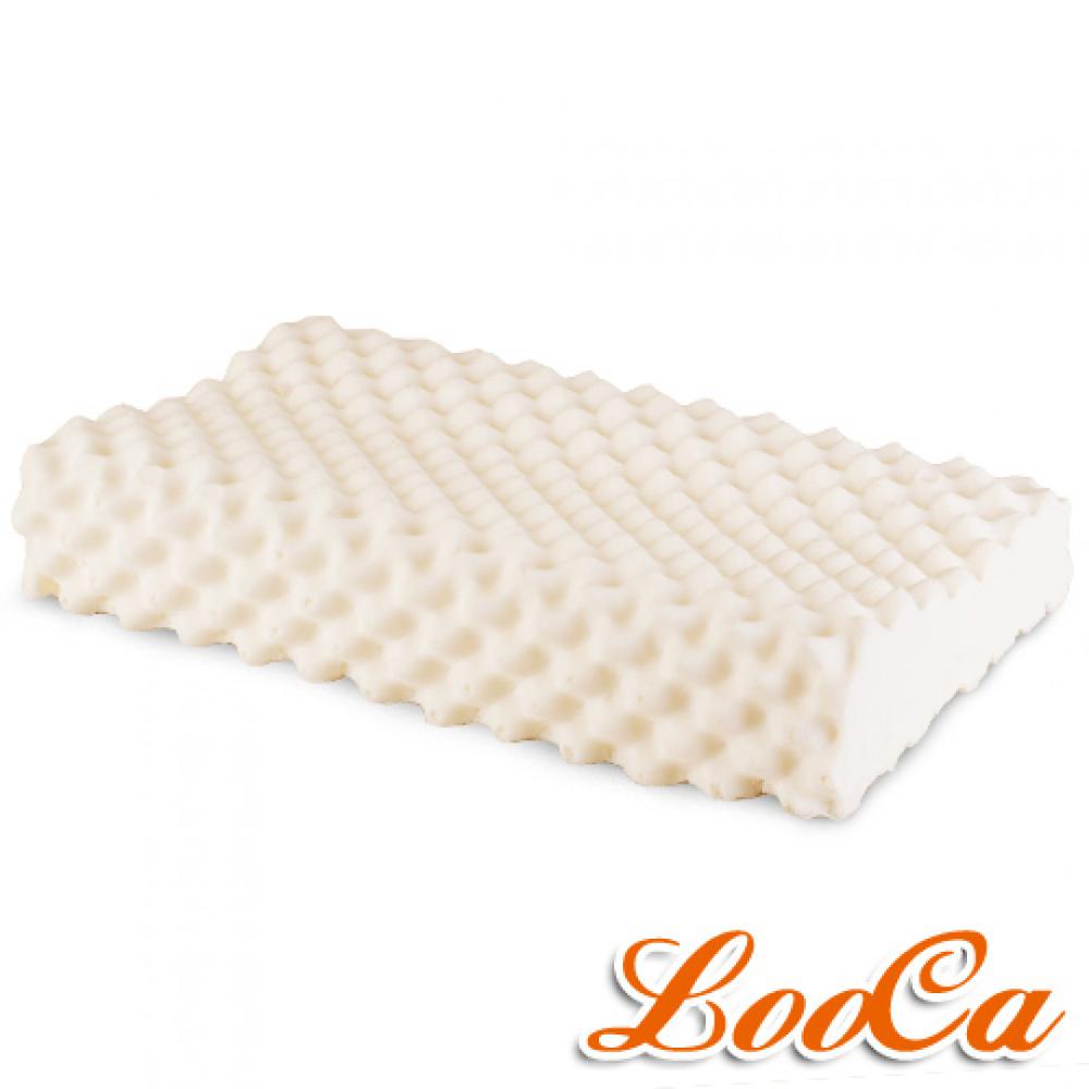 LooCa 特級按摩工學乳膠枕 1入