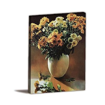 橙品油畫布-單聯式直幅 掛畫無框畫 晚餐之前 30x40cm