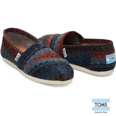 TOMS 羊毛混線織紋懶人鞋-女款