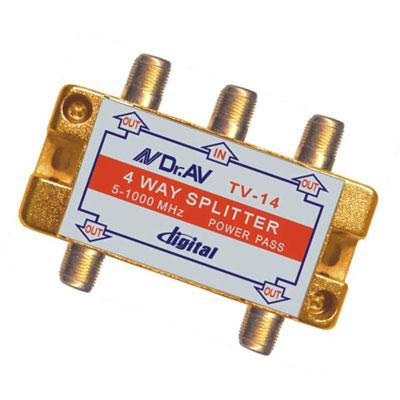 專業級四路分配器機板式(1入裝)   TV-14