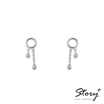 STORY ACCESSORY-人魚眼淚垂墜-純銀耳環