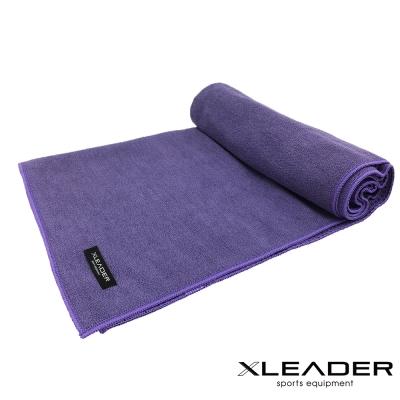 Leader X 超細纖維吸汗止滑瑜珈鋪巾 紫色 - 急