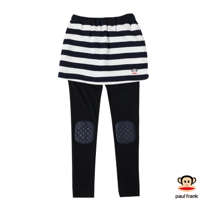 PAUL FRANK-條紋學院風兩件式長褲裙-黑色(女)