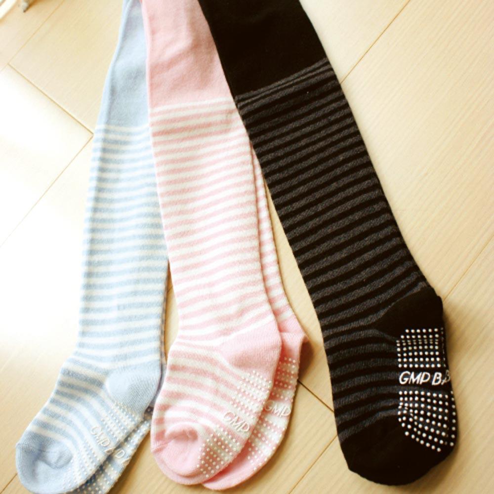 GMP BABY 條紋止滑幼兒褲襪(黑)~1雙
