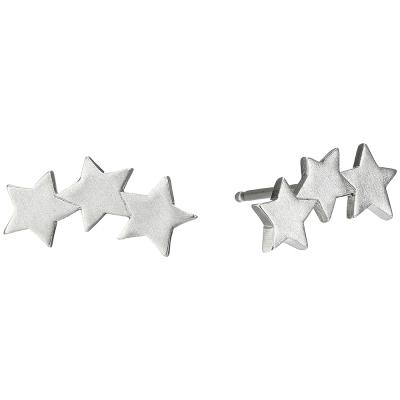 Dogeared-銀色星星耳環-手工細緻三墜-three-wishes-star-附原廠盒