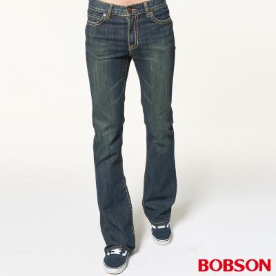 BOBSON 男款輕量低腰深藍喇叭