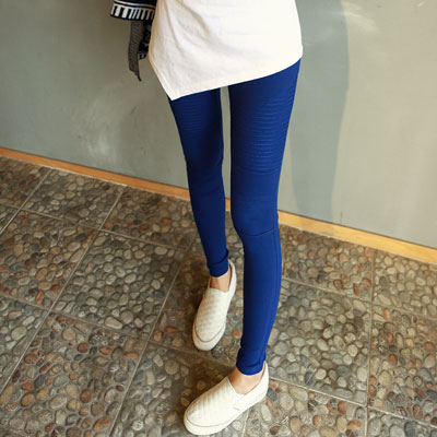 正韓 長腿修飾縫線造型貼腿褲 (共三色)-N.C21
