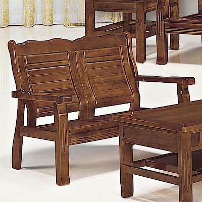H&D 香樟實木雙人椅 (寬126X深68X高97cm)