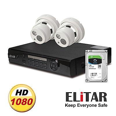 Elitar4路監控主機Sony2鏡頭1TB監控鷹