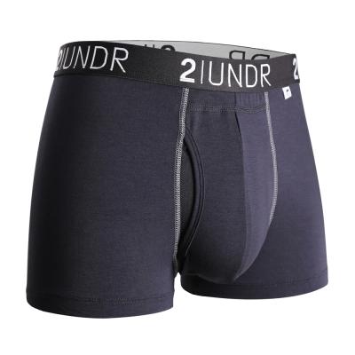 2UNDR Swing Shift 莫代爾吸排四角內褲(3吋)-黑色
