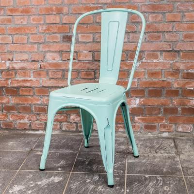 Boden-亞歷仿舊復刻工業風鐵椅餐椅-四入(四色可選)-46x52x85cm