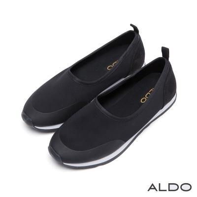 ALDO-原色魅力一體成形壓紋車線休閒便鞋-尊爵黑
