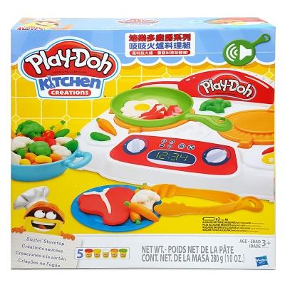 培樂多Play-Doh 創意DIY黏土 廚房系列 吱吱火爐料理組 B9014(3Y+)