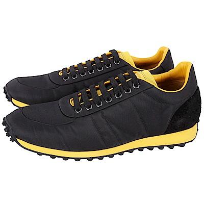 BURBERRY Lowland 撞色拼接繫帶黑色運動鞋(43號/男款)