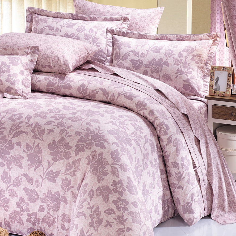 鴻宇HongYew 美國PIMA棉 400織-博多典雅 雙人七件式兩用被床罩組