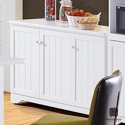 漢妮Hampton瑪德琳系列純白4尺餐櫃-120x45x81cm