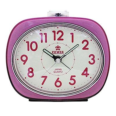 POWER霸王鐘錶-包框鬧鐘-謎樣粉紅PA606P-12CM