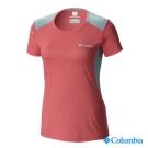 【美國Columbia哥倫比亞】冰涼快排短袖上衣-女-紅(UAR54190RD)