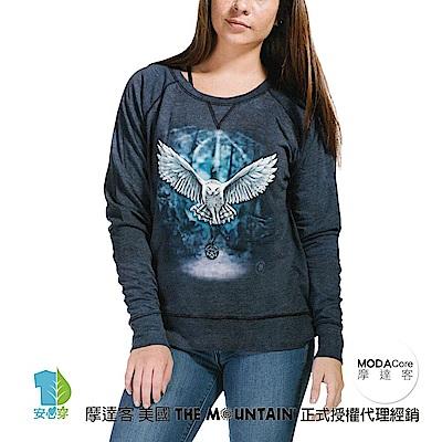 摩達客 美國The Mountain 喚之貓頭鷹 女版休閒長袖T恤