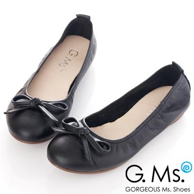 G.Ms. MIT系列-牛皮經典蝴蝶結娃娃鞋-氣質黑