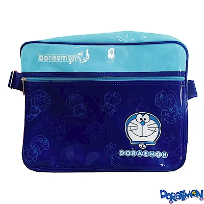 哆拉A夢亮面側背包(藍)