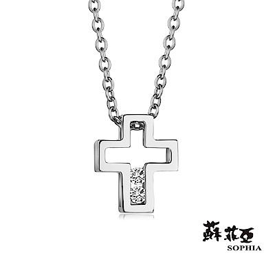 蘇菲亞SOPHIA 鑽石項鍊-愛的信仰鑽鍊(共2色)