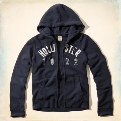 Hollister HCO 長袖 文字 連帽外套 藍色 264
