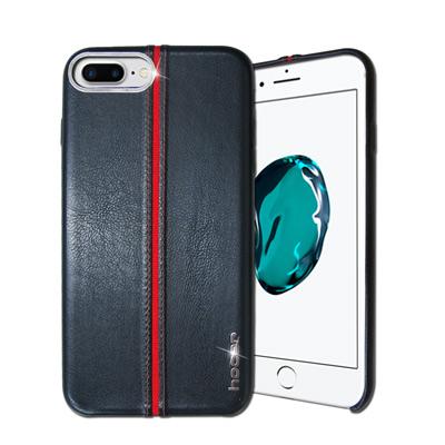 HOCAR iPhone 8 Plus/ 7 Plus 爵士皮革保護手機殼(摩藍...