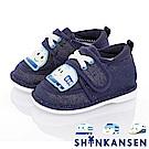 三麗鷗 新幹線童鞋 輕量減壓寶寶學步嗶嗶鞋-藍