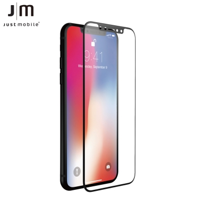Just Mobile Xkin  iPhone X 3D滿版強化玻璃保護貼(黑...