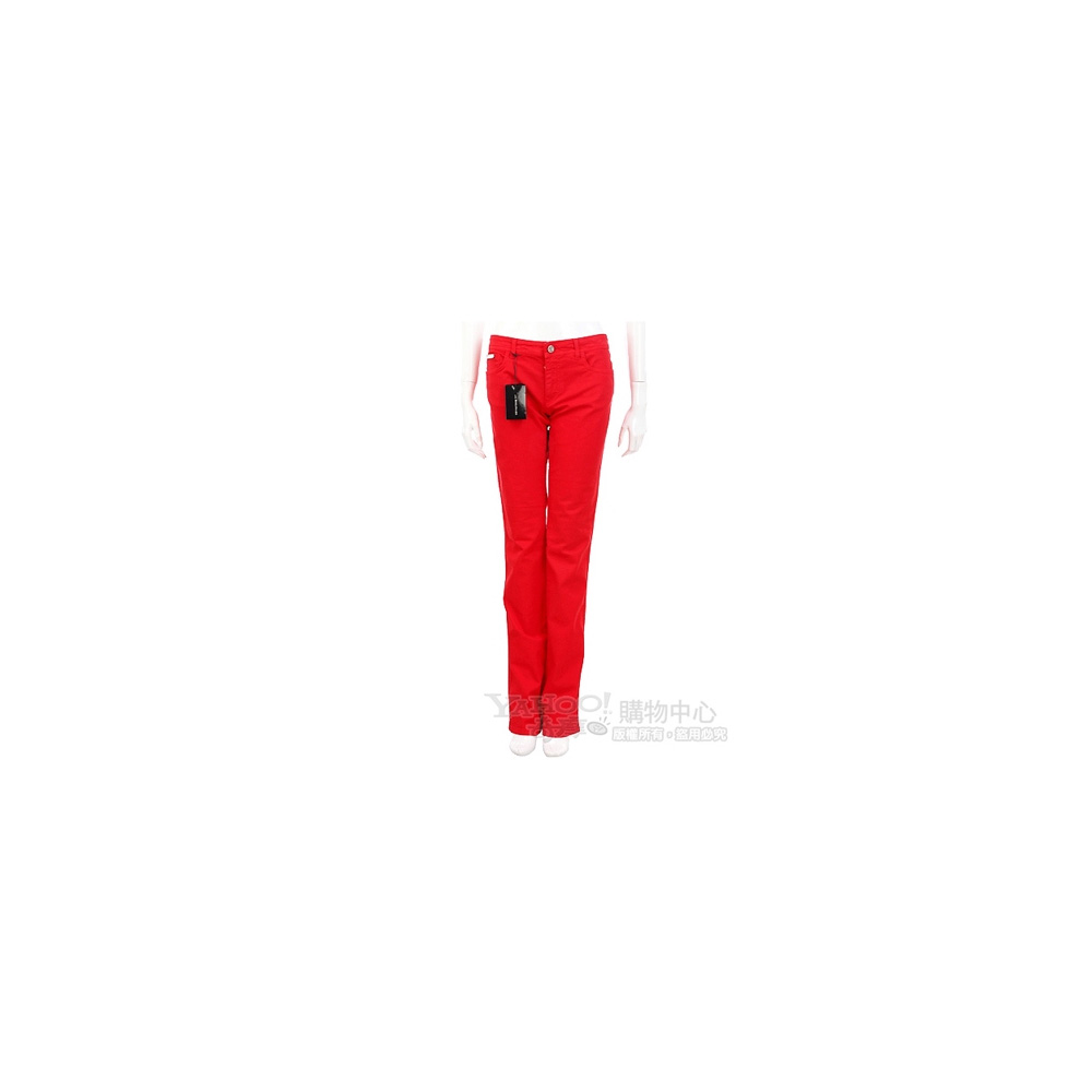 BLUMARINE-ANNA MOLINARI 紅色直筒牛仔長褲