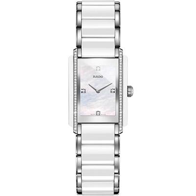 RADO Integral 精密陶瓷系列鑽錶-白/23x33mm